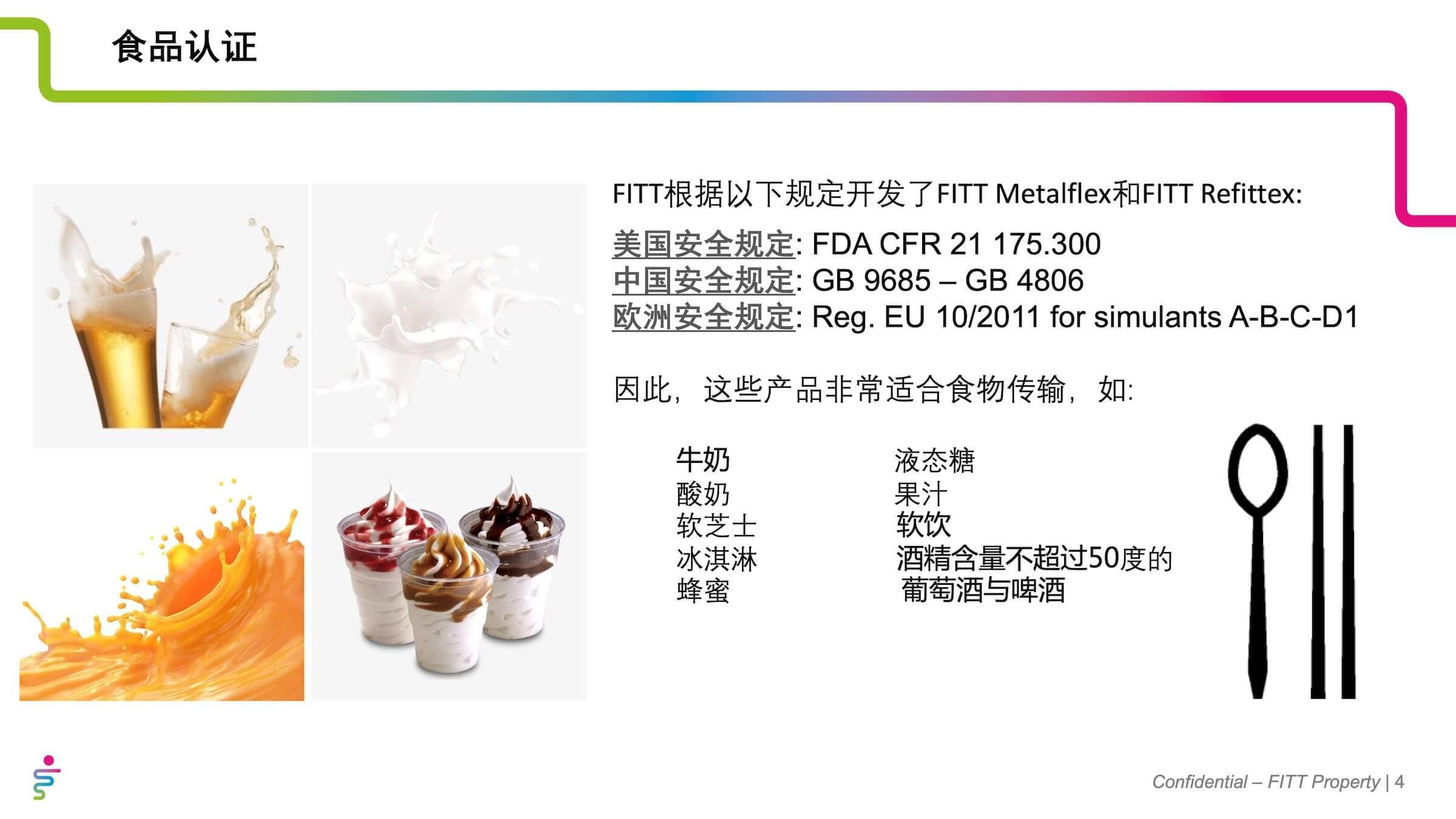 FITT翡易特应用于食品及饮料领域的产品